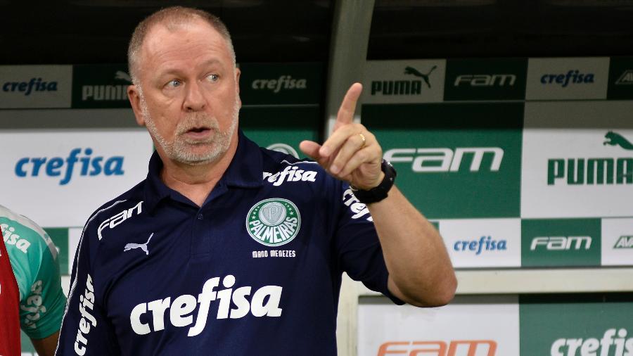 Mano Menezes, técnico do Palmeiras, durante partida contra o Ceará - Bruno Ulivieri/AGIF