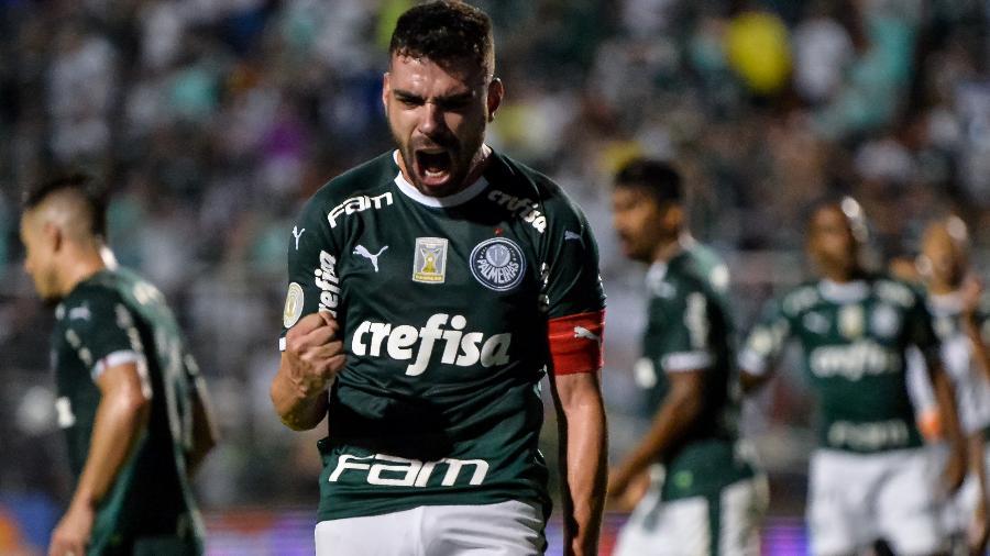 Bruno Henrique comemora gol do Palmeiras sobre o Corinthians pelo Brasileiro  - ANDRÉ ANSELMO/FUTURA PRESS/ESTADÃO CONTEÚDO