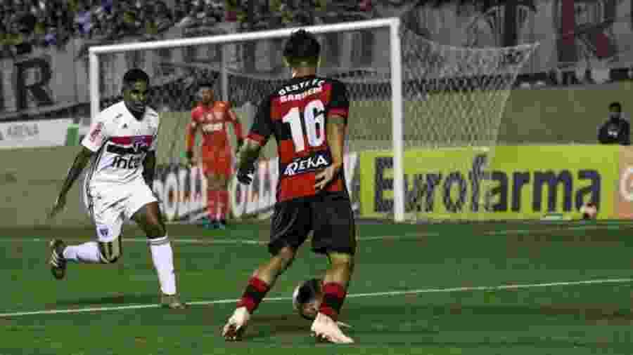 Lance da partida entre São Paulo e Oeste pela Copinha - Divulgação/Oeste