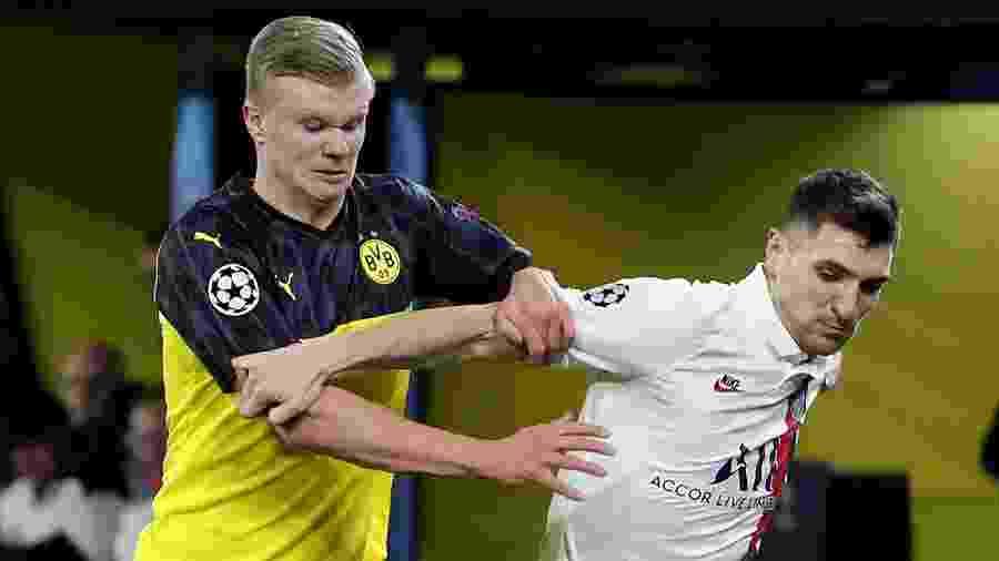 Meunier é desfalque do PSG na Champions, mas não sabia que estava pendurado - Joachim Bywaletz/Xinhua