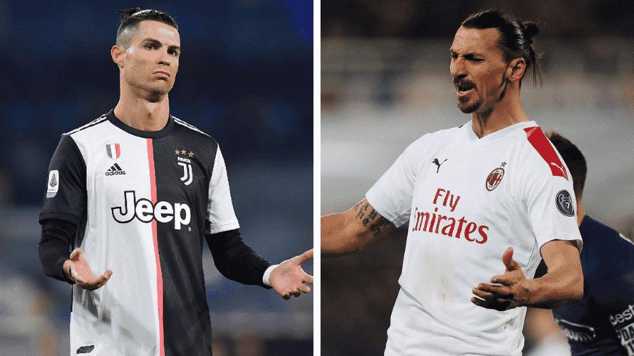 Cristiano Ronaldo e Ibrahimovic: quem tem os gols mais absurdos? - Francesco Pecoraro/Getty Images e Gabriele Maltinti/Getty Images