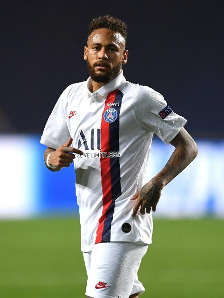 Neymar, do Paris Saint-Germain, que enfrenta o RB Leipzig pela semifinal da Liga dos Campeões  - David Ramos/Getty Images