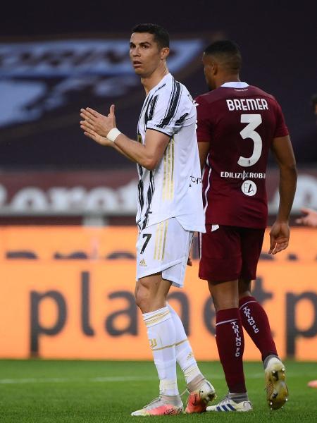 Cristiano Ronaldo, durante partida entre Juventus e Torino - Marco BERTORELLO / AFP