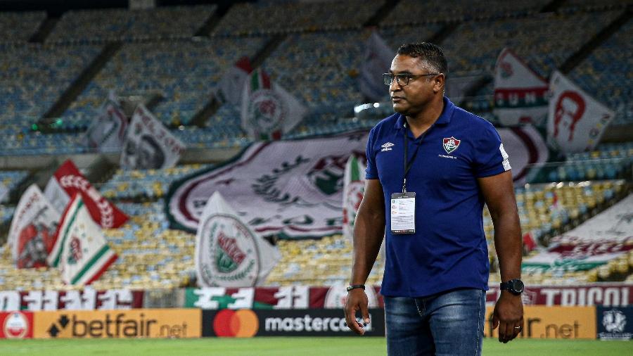 Roger Machado ainda não definiu quais titulares enfrentarão a Portuguesa-RJ - Lucas Mercon/Fluminense