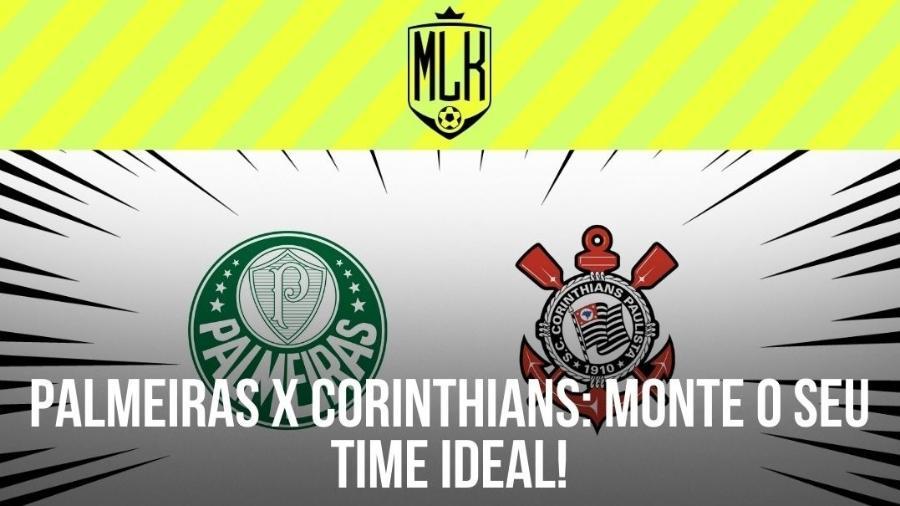 O jogo entre Palmeiras e Corinthians acontece neste sábado, às 19h, no Allianz Parque - Arte/UOL