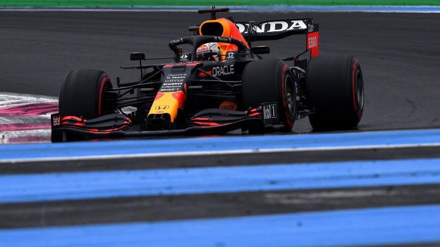 Max Verstappen na sessão classificatória para o GP da França, em Paul Ricard - Red Bull