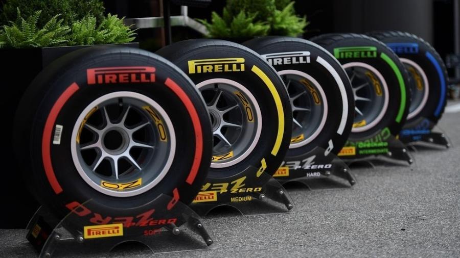 Gama de pneus da Pirelli à disposição dos pilotos de F-1 na atual temporada - Pirelli