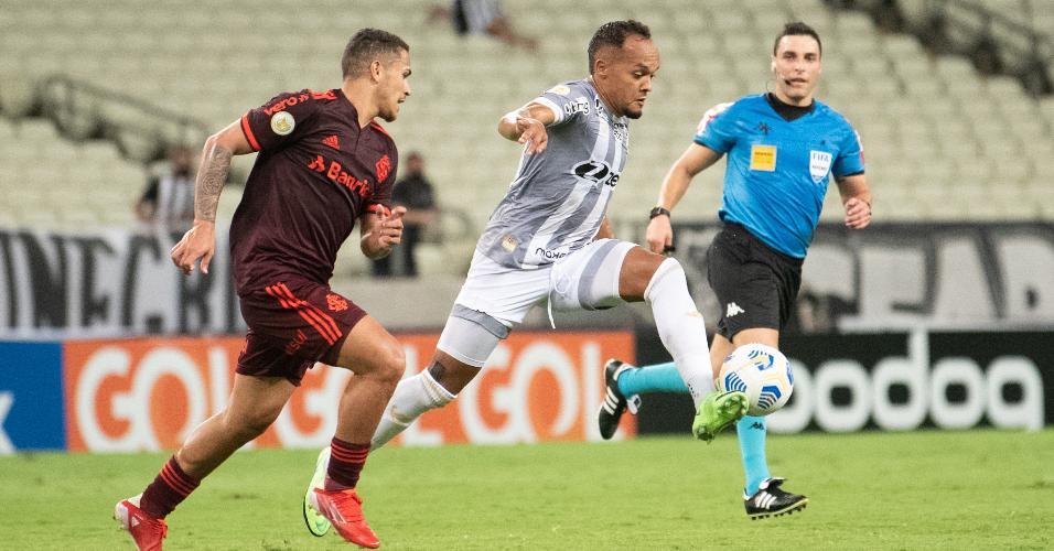 Confronto entre Ceará e Inter, na Arena Castelão, pela 24ª rodada do Brasileirão