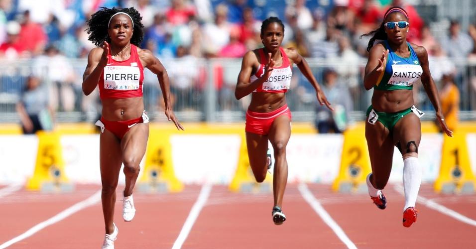 Rosângela dos Santos terminou na segunda colocação da bateria eliminatória dos 100m