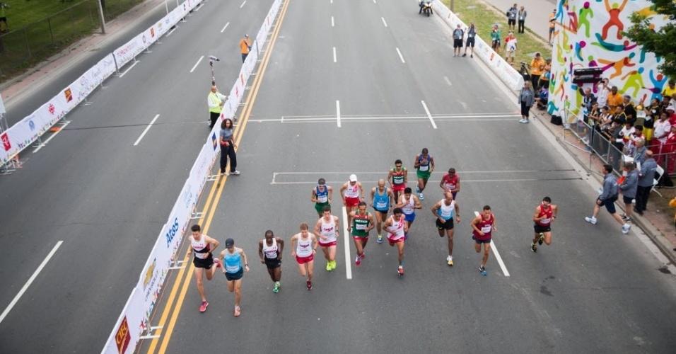 Maratona masculina abre o penúltimo dia de competições. Franck Caldeira não terminou a prova e Ubiratan dos Santos foi o 13º