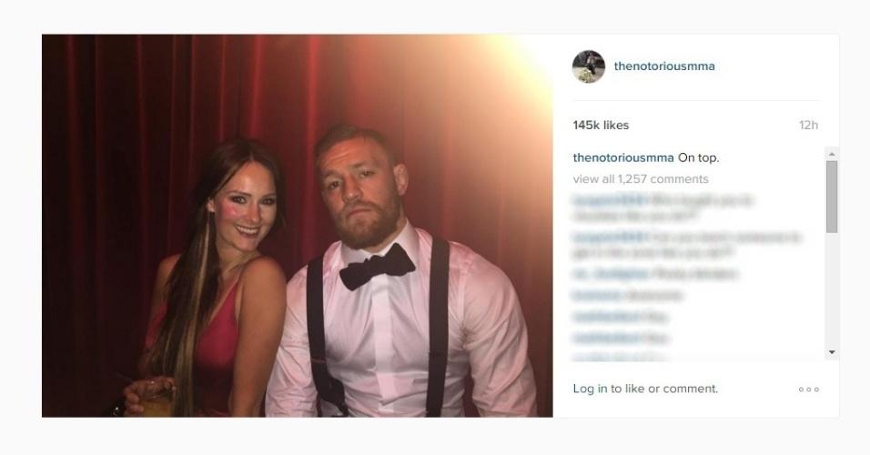 Conor McGregor passou a virada do ano com estilo: 'no topo'