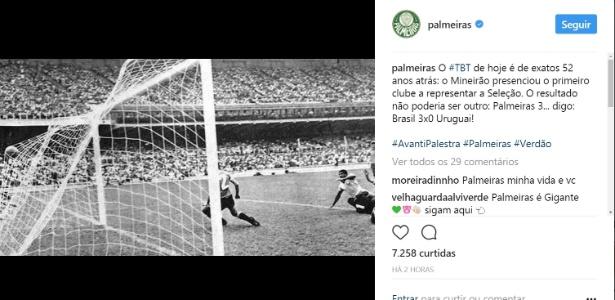 7 de setembro, o dia em que o Palmeiras representou a seleção