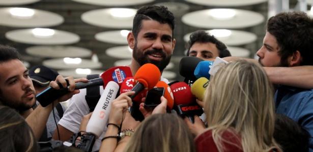 Diego Costa desembarca na Espanha para ser jogador do Atlético de Madri