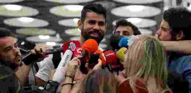 Diego Costa desembarca na Espanha para ser jogador do Atlético de Madri - REUTERS/Sergio Perez
