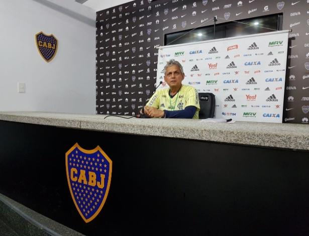 Técnico do Flamengo, Reinaldo Rueda, concedeu entrevista na Bombonera