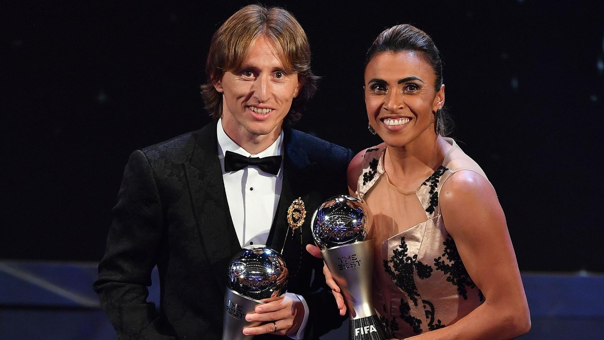 Marta e Modric foram eleitos os melhores do mundo