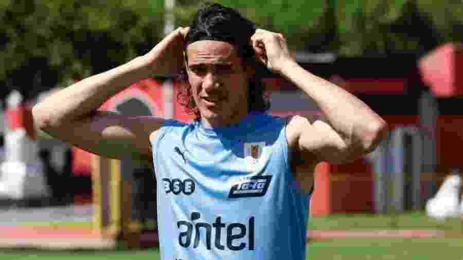 Cavani, atacante da seleção do Uruguai - Divulgação/@Uruguay
