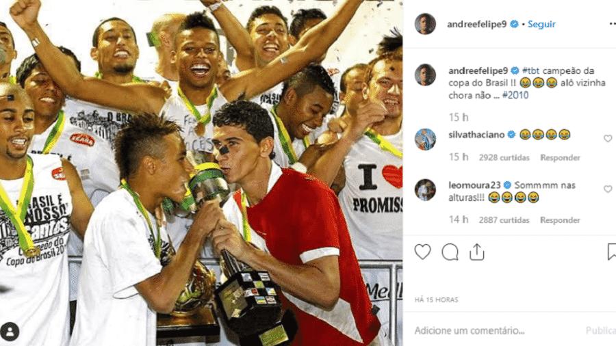 André alfineta o Inter e cutuca vizinha que fez BO contra ele - Reprodução/Instagram