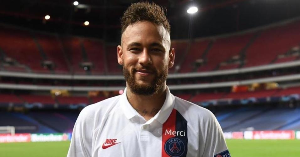 Neymar foi eleito o melhor em campo na partida contra a Atalanta