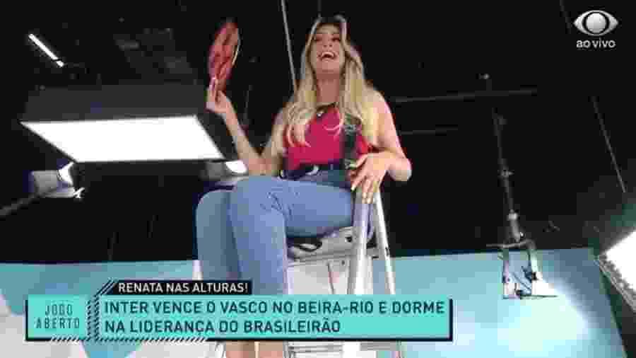 Renata Fan celebra liderança do Inter no Brasileirão - Reprodução/Band