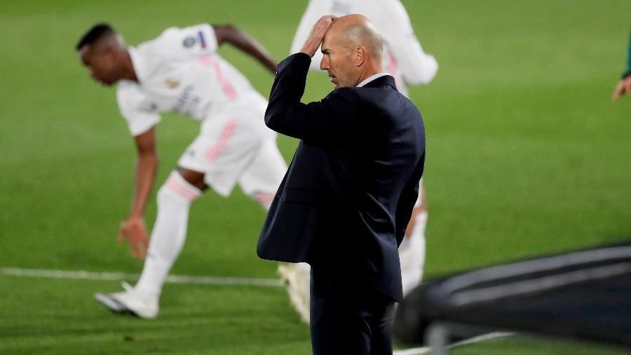 Zidane, técnico do Real Madrid - Getty Images