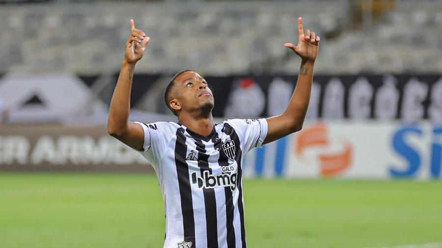 Atacante Keno terminou a temporada 2020 como artilheiro do Galo com 11 gols - Pedro Souza/Atlético-MG