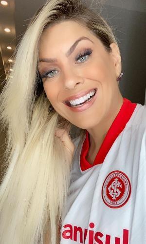 Renata Fan comemorou goleada do Inter
