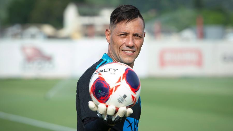 Diego Alves durante treino do Flamengo no Ninho do Urubu - Alexandre Vidal/Flamengo