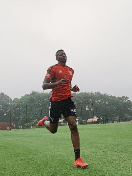 Orejuela defende as cores do São Paulo desde março de 2021 - Divulgação/São Paulo FC