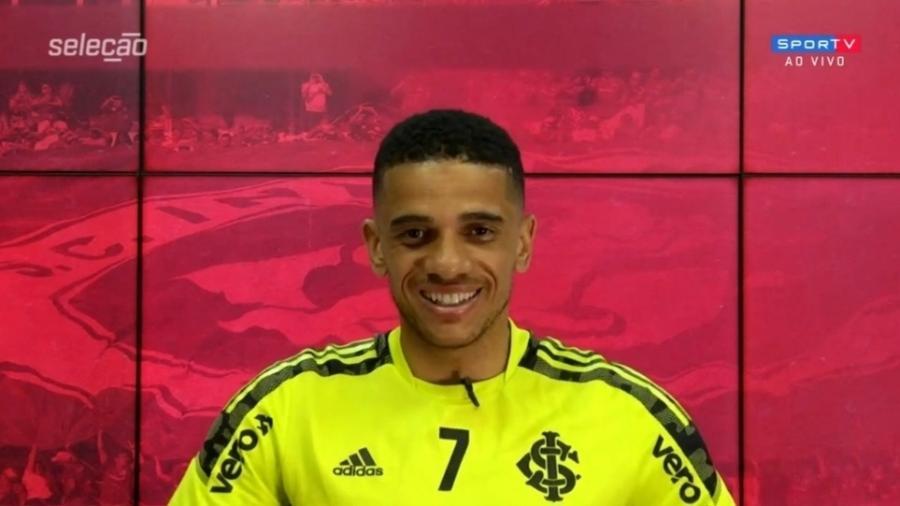 Taison se declara ao Inter após vitória pela Copa Libertadores - Reprodução/SporTV