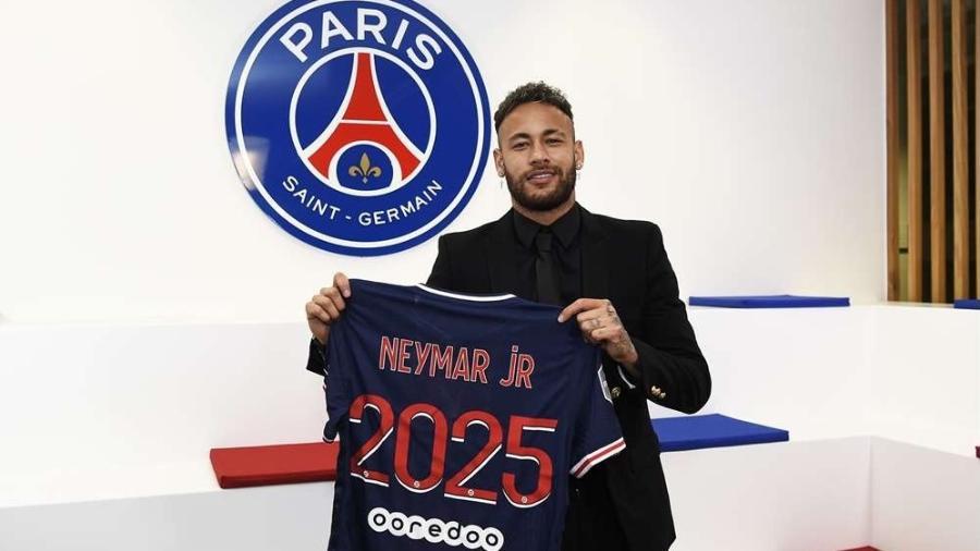 Neymar anuncia renovação com o PSG até 2025 - Divulgação/PSG