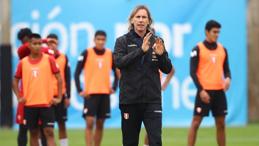 Ricardo Gareca, técnico da seleção do Peru - Reprodução/@SeleccionPeru