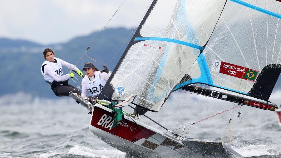 Martine Grael Kahena Kunze, da classe 49er., em Tóquio-2020  - Phil Walter/Getty Images