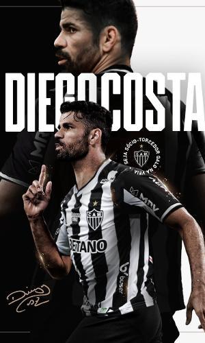 Diego Costa é mais um astro internacional a vestir a camisa do Galo em 2021