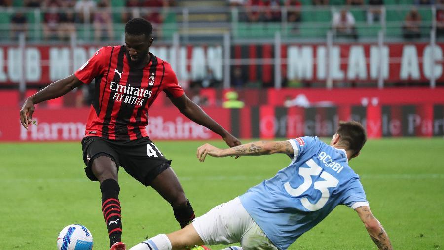 Tiemoue Bakayoko, do Milan, em campo contra a Lazio - Giuseppe Cottini/NurPhoto via Getty Images