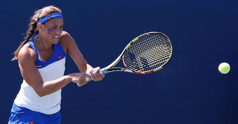 Monica Puig, de Porto Rico, durante a final de simples do tênis contra a mexicana Victoria Rodriguez