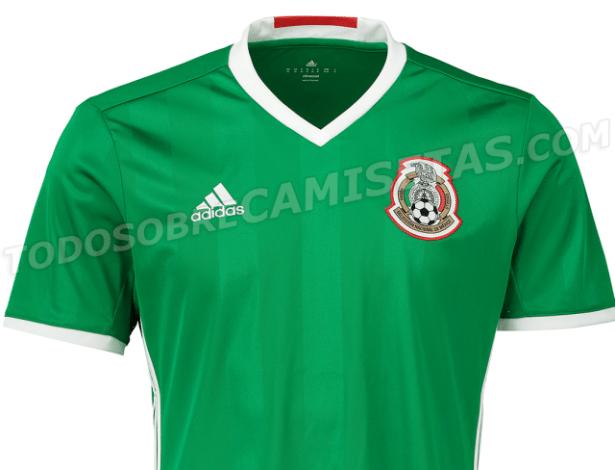 Camisa do México mantém o tradicional verde como cor principal