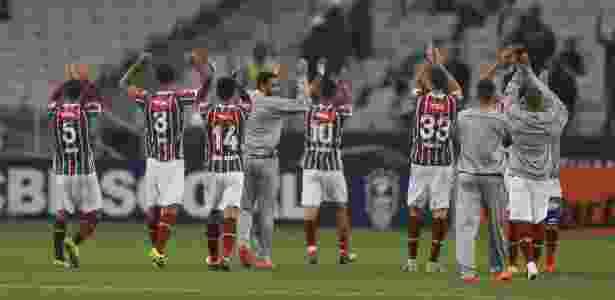 Jogadores do Fluminense comemoram vitória sobre o Corinthians em Itaquera - Rubens Cavallari/Folhapress - Rubens Cavallari/Folhapress