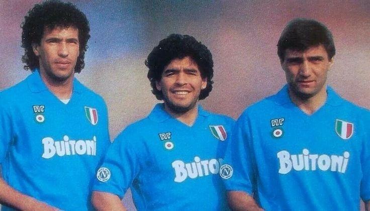 Napoli com Careca e Maradona: vencedor nos anos 80