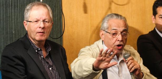 Carlos Eduardo Pereira (Botafogo) e Eurico Miranda (Vasco) vivem momentos distintos  - Rafael Wallace / Alerj