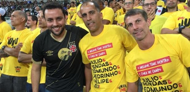 Felipe e Pedrinho vão ao Maracanã apoiar Julio Brant, candidato à presidência do Vasco