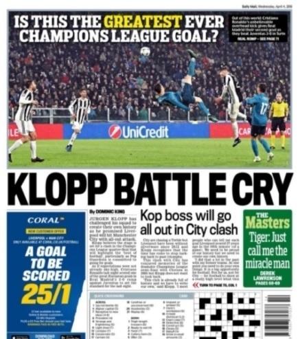 Daily Mail questiona se o gol de Cristiano foi o mais bonito de todos os tempos