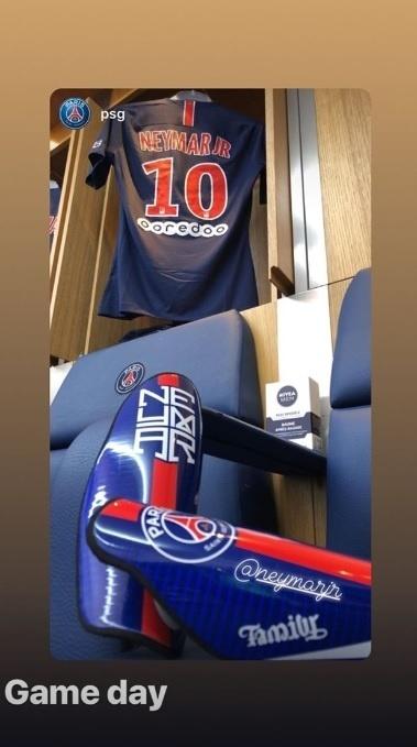 Neymar publicou foto do vestiário antes da estreia no Francês