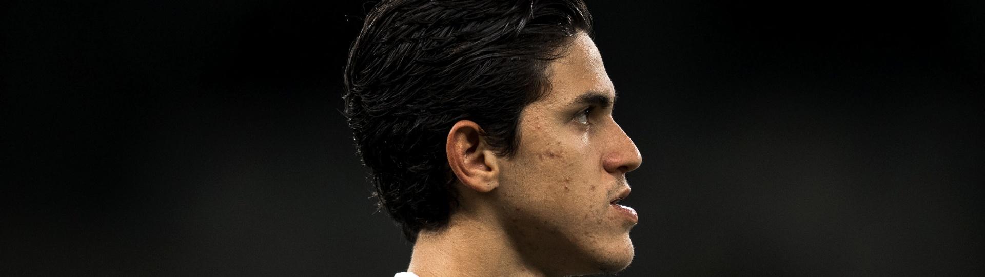 Pedro, durante partida entre Fluminense e Cruzeiro