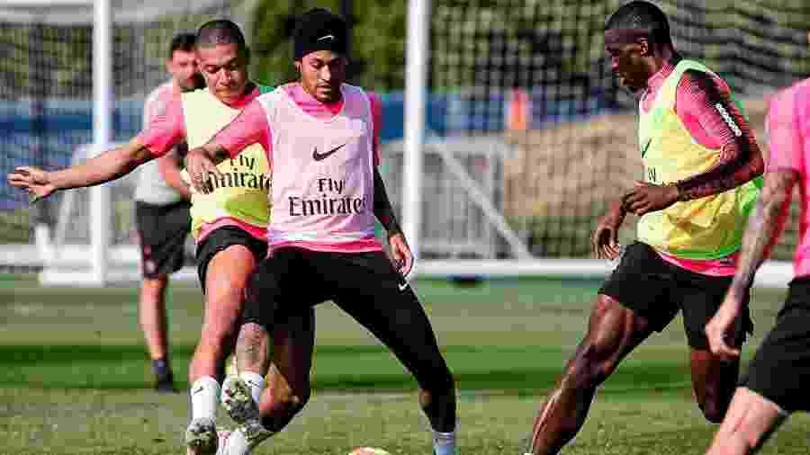 Neymar em treinamento do PSG  - C.Gavelle/PSG