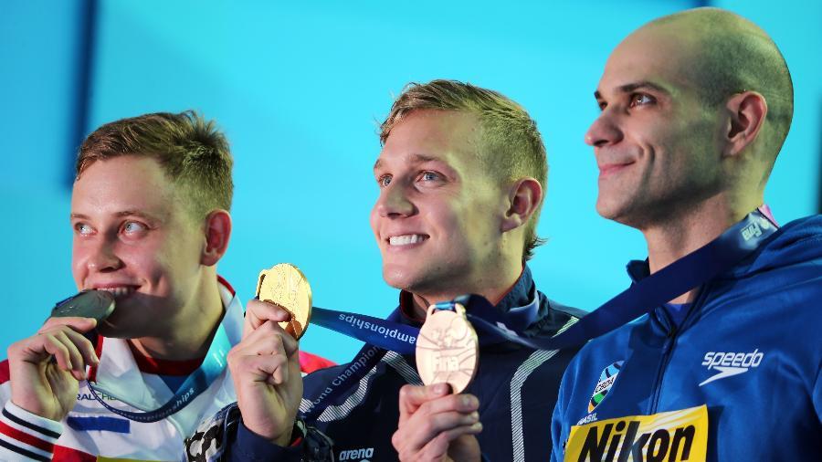Nicholas Santos conquistou o bronze no Mundial de esportes aquáticos - REUTERS/Antonio Bronic