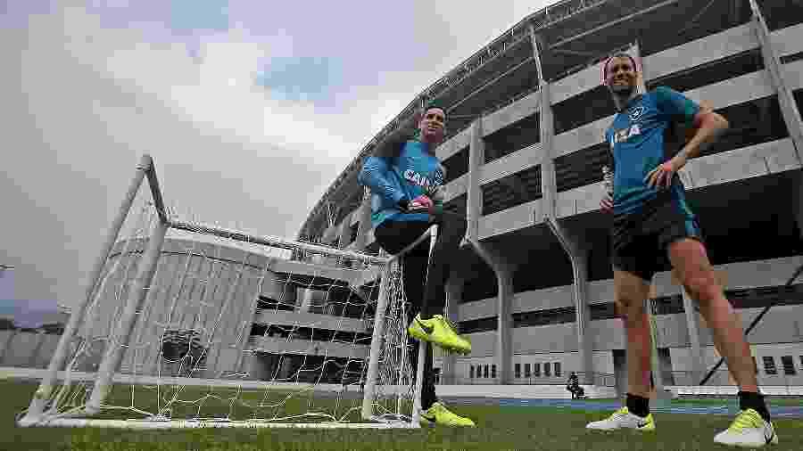 Gatito Fernández e Joel Carli mantém parceria de quatro anos do Botafogo dentro e fora de campo  - Vitor Silva/SSPress/Botafogo