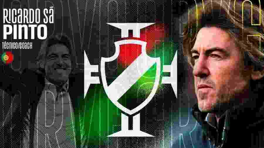 Português Ricardo Sá Pinto foi anunciado como novo técnico do Vasco da Gama - Divulgação / Vasco