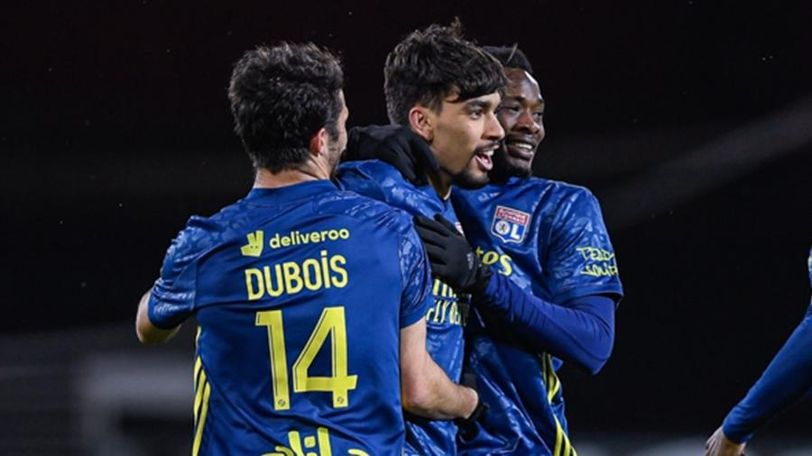 Lucas Paquetá comemora gol pelo Lyon no Campeonato Francês - Lyon/Site Oficial