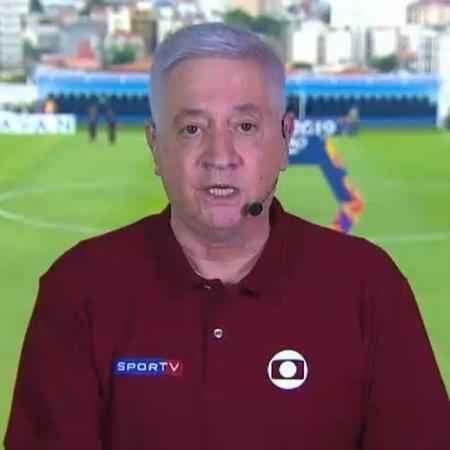 Jota Júnior, narrador do SporTV: vacinado contra a covid-19 - Reprodução/SporTV